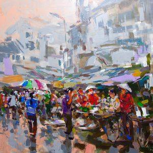 Hanoi street market 2