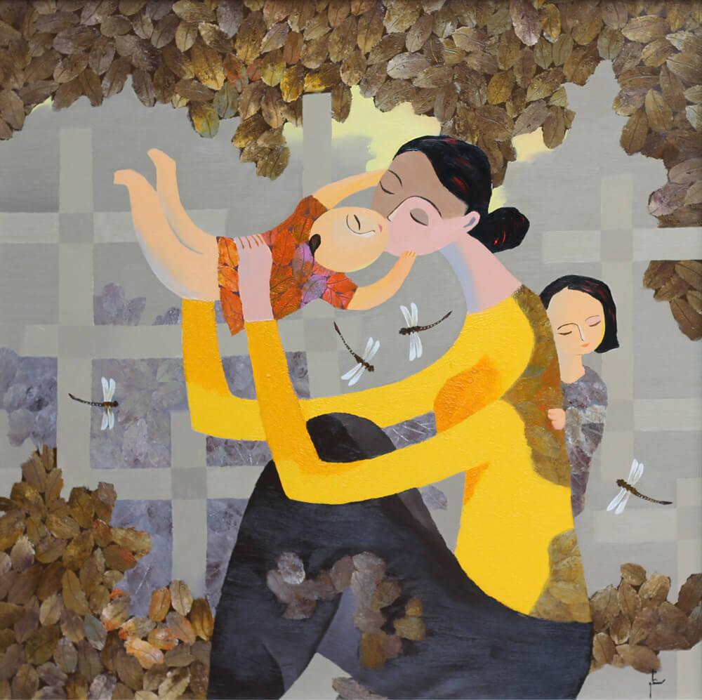 Happy, Vietnam Art Paintings