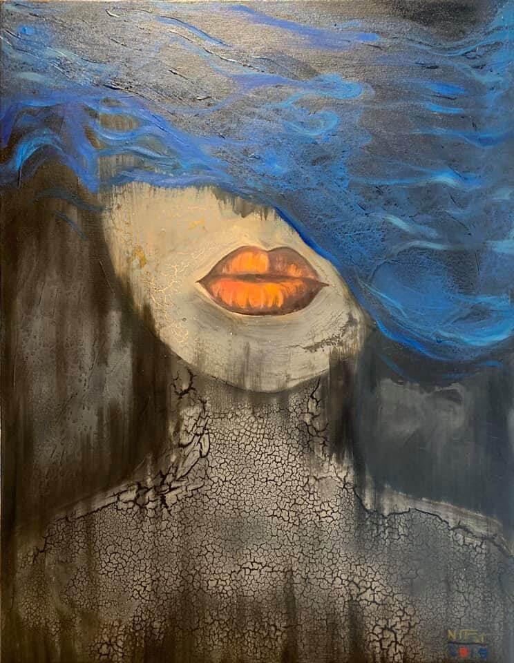 Hide and Seek -Nguyen Tan Phat - 62 x 92 cm