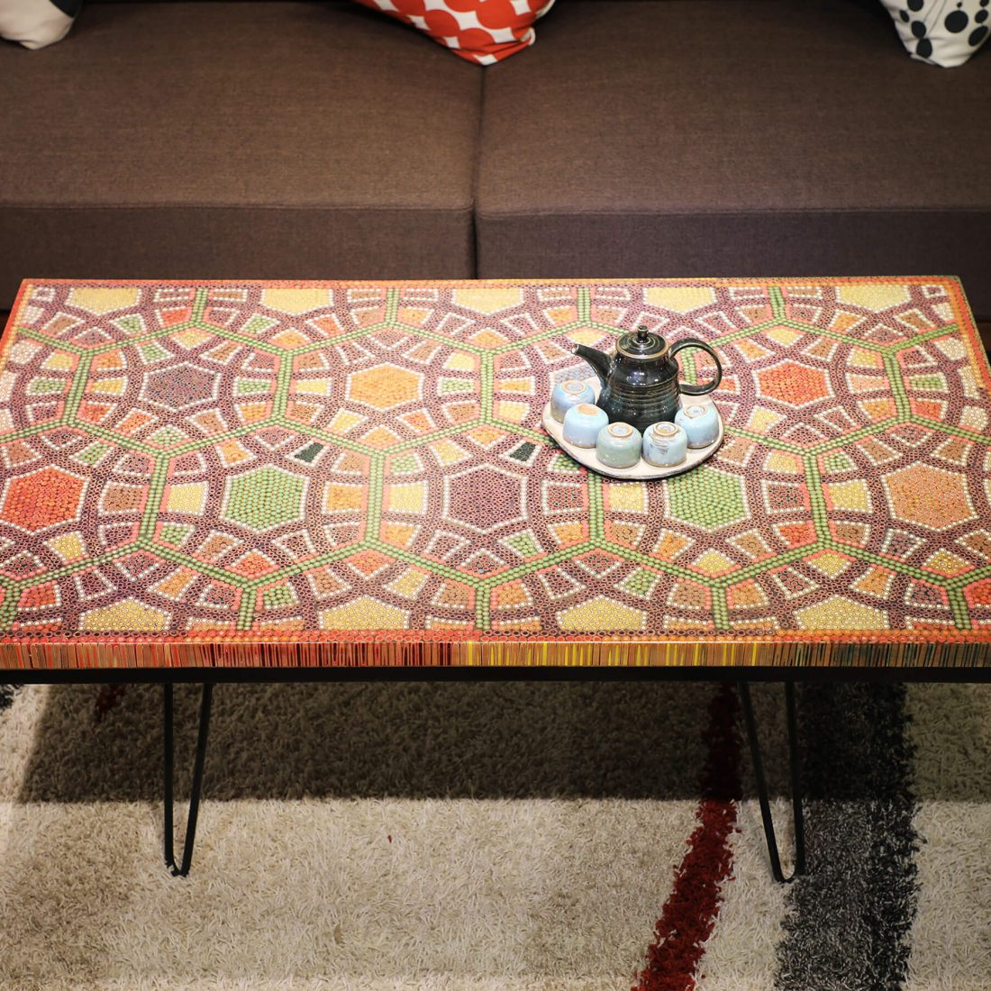 Infinity and Beyond Colored-Pencil Coffee Table