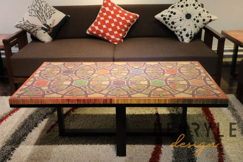 Infinity and Beyond Colored-Pencil Coffee Table 12