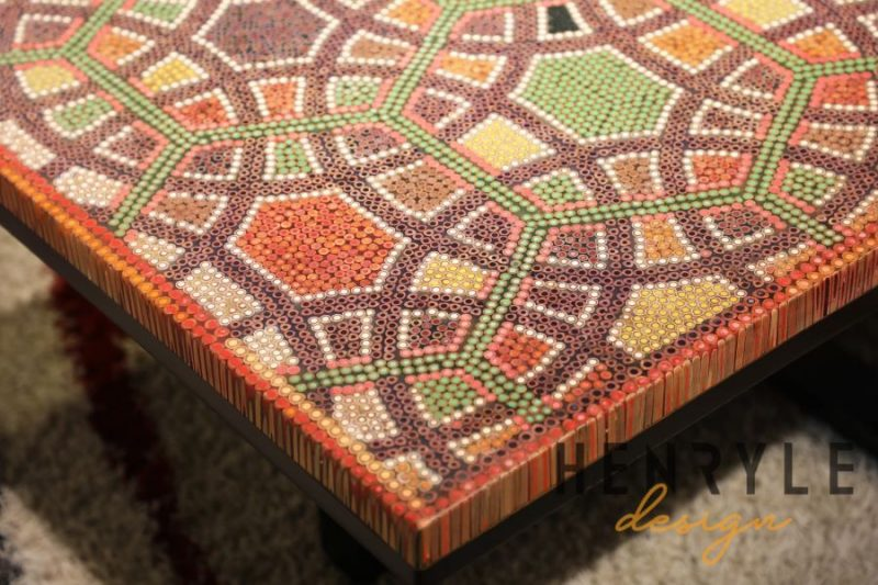 Infinity and Beyond Colored-Pencil Coffee Table 14