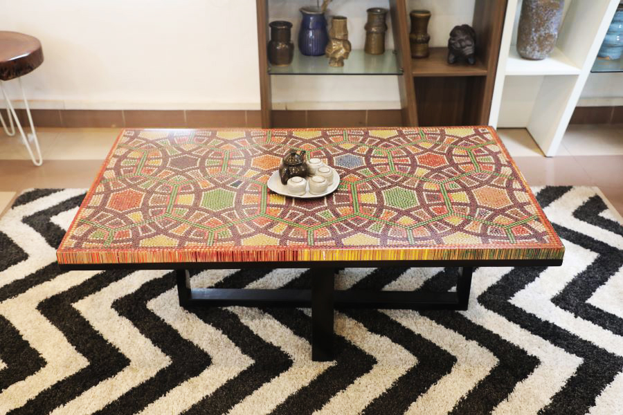 Infinity and Beyond Colored-Pencil Coffee Table 9
