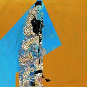 Lady 15 acrylic on canvas, Vietnam Art Paintings