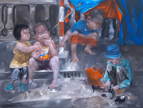 Life stories by Luong Trung artist