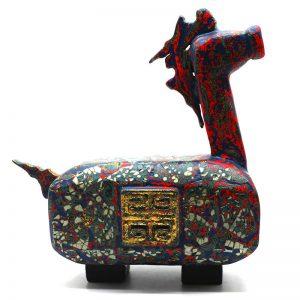 Little Horse - Vietnamese Lacquer Artworks by Artist Nguyen Tan Phat