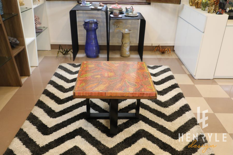 Lotus Pond Colored-Pencil Coffee Table I 11