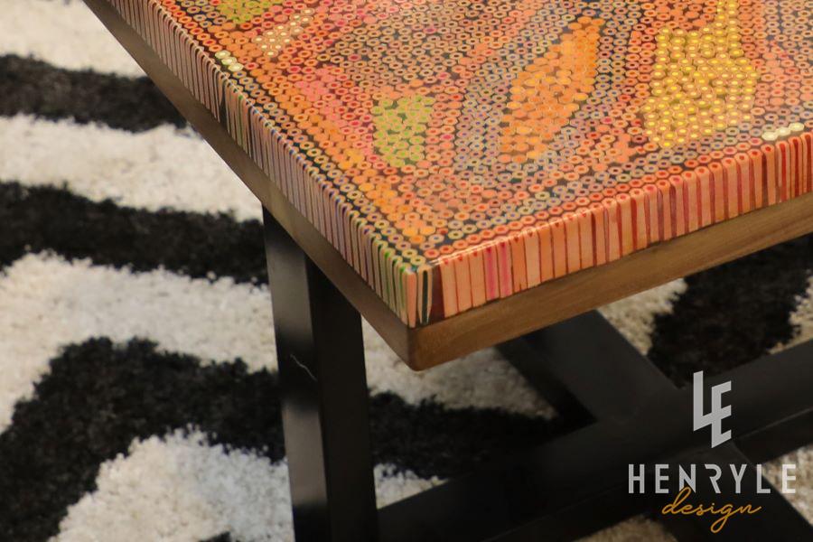 Lotus Pond Colored-Pencil Coffee Table I 7