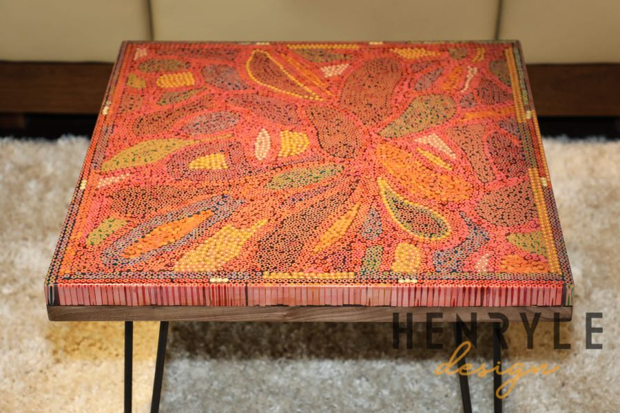 Lotus Pond Colored-Pencil Coffee Table I 8