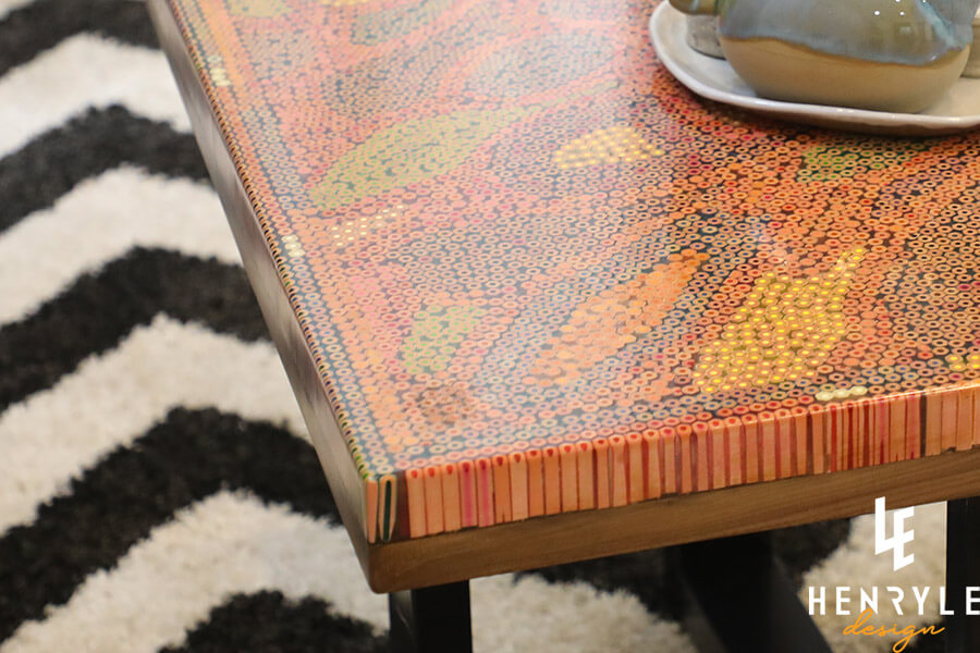 Lotus Pond Colored-Pencil Coffee Table III 3