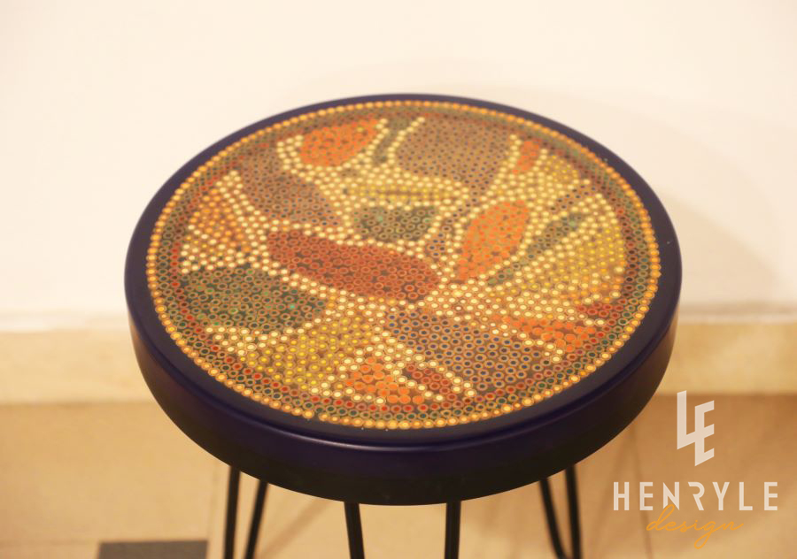 Lotus Pond Colored Pencil Coffee Table IX 3