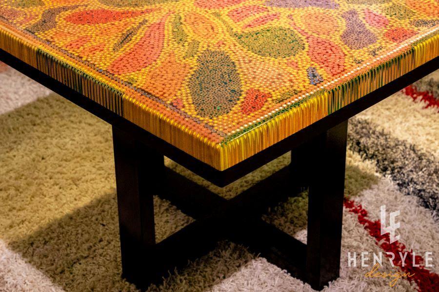 Lotus Pond Colored Pencil Coffee Table V 1
