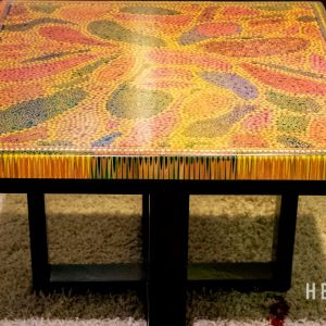 Lotus Pond Colored Pencil Coffee Table V 3