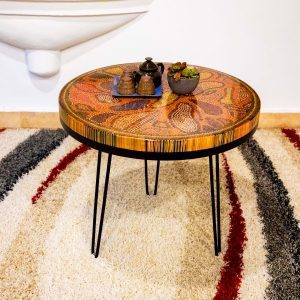 Lotus Pond Colored Pencil Coffee Table VI 1