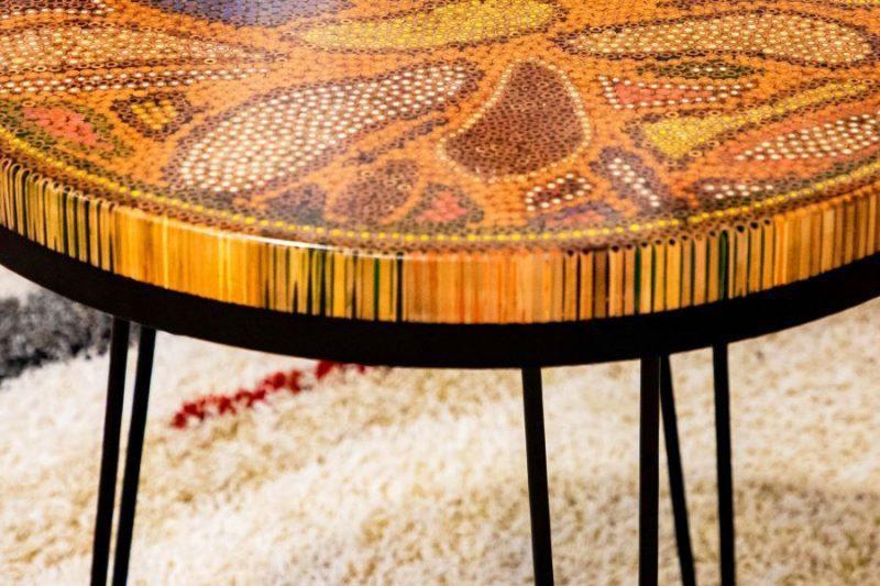 Lotus Pond Colored Pencil Coffee Table VI 4