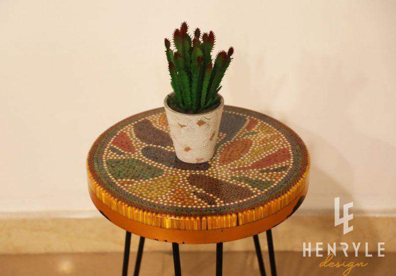 Lotus Pond Colored Pencil Coffee Table VII 2