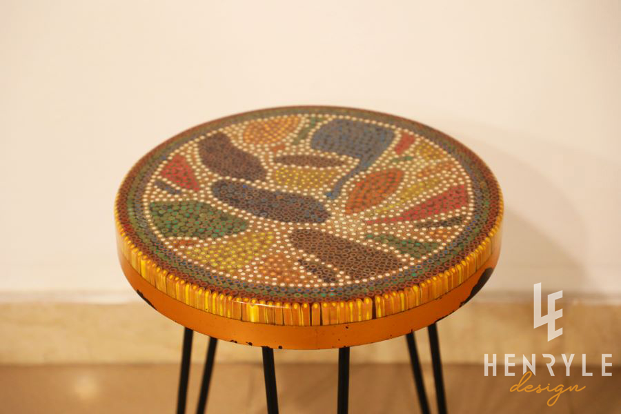 Lotus Pond Colored Pencil Coffee Table VII 3