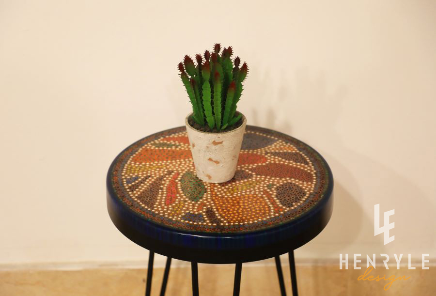 Lotus Pond Colored Pencil Coffee Table VIII 1