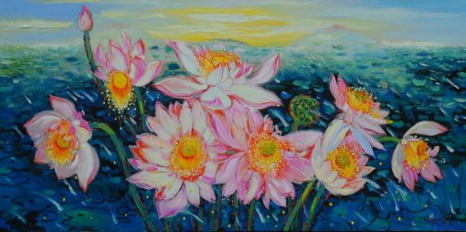 Lotus Pond Dang Dinh Ngo, Vietnam Artworks