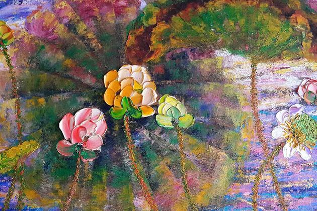 Lotus in Vietnamese paintings