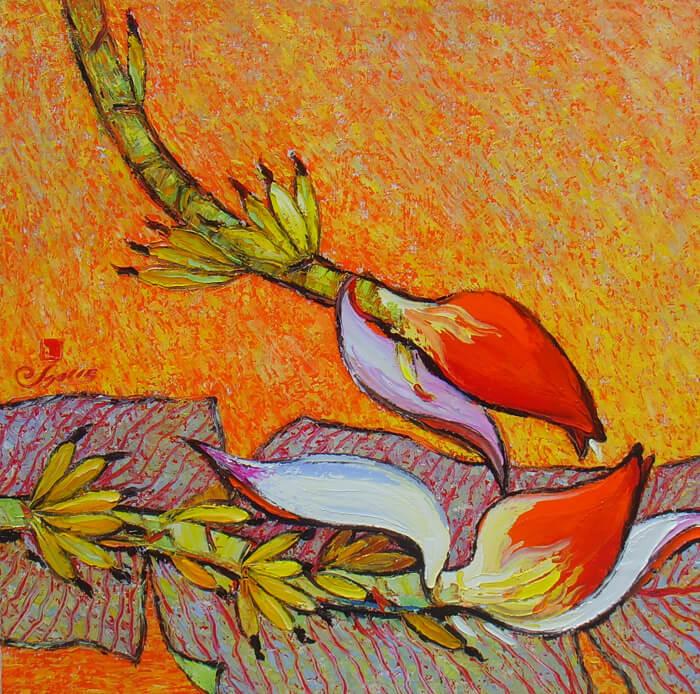 Love, oil on canvas, Artworks in Hanoi