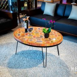 Lucky Coin Colored-Pencil Coffee Table I 1