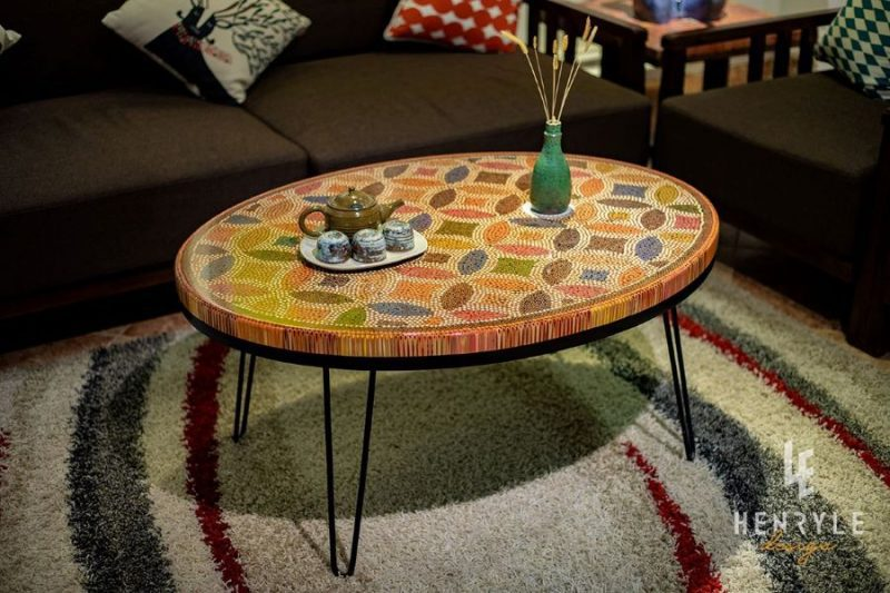 Lucky Coin Colored-Pencil Coffee Table I 3