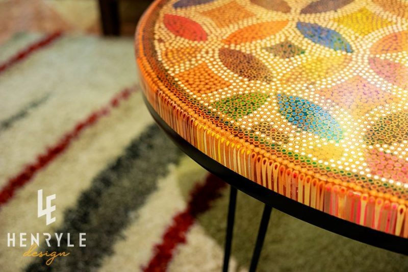 Lucky Coin Colored-Pencil Coffee Table I 4