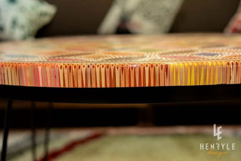 Lucky Coin Colored-Pencil Coffee Table I 5