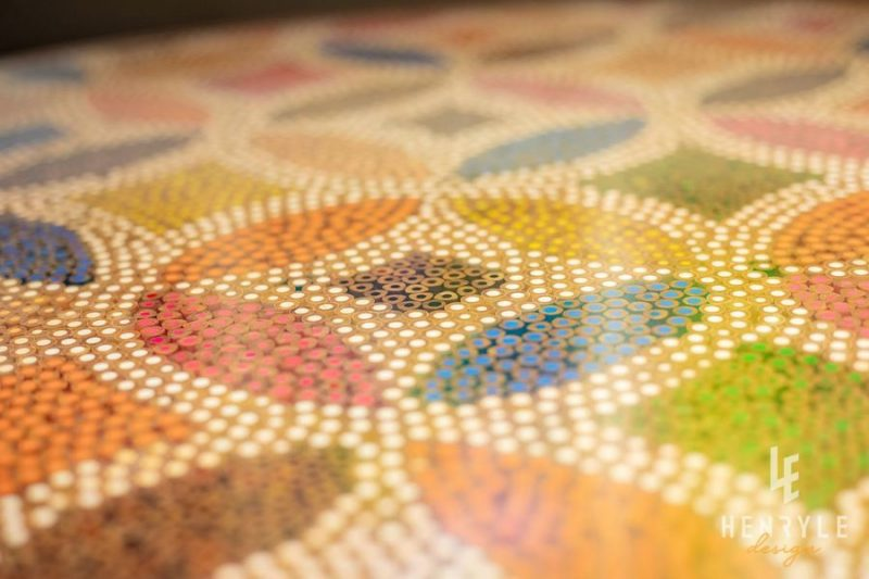 Lucky Coin Colored-Pencil Coffee Table I 6