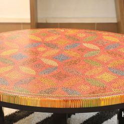 Lucky Coins Colored Pencil Coffee Table III 3