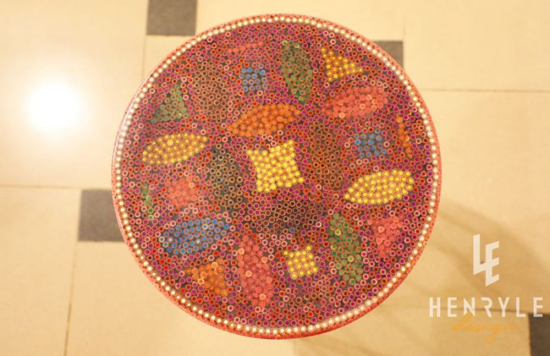 Lucky Coins Colored Pencil Coffee Table VI 2