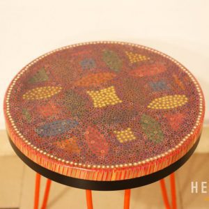 Lucky Coins Colored Pencil Coffee Table VI 3
