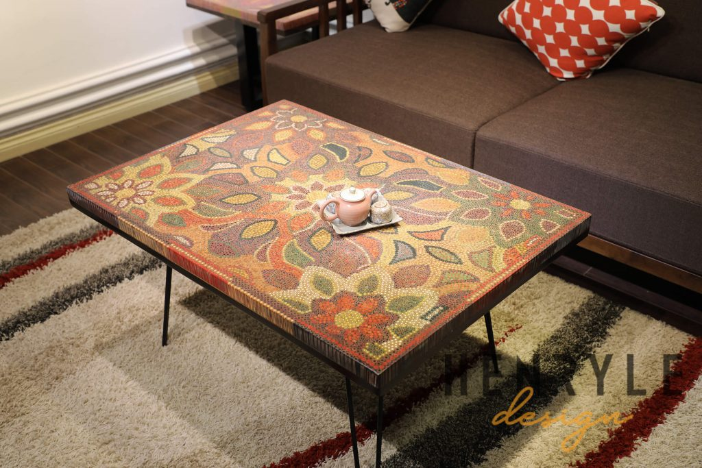 Melody of Mother Nature Colored-Pencil Coffee Table 6