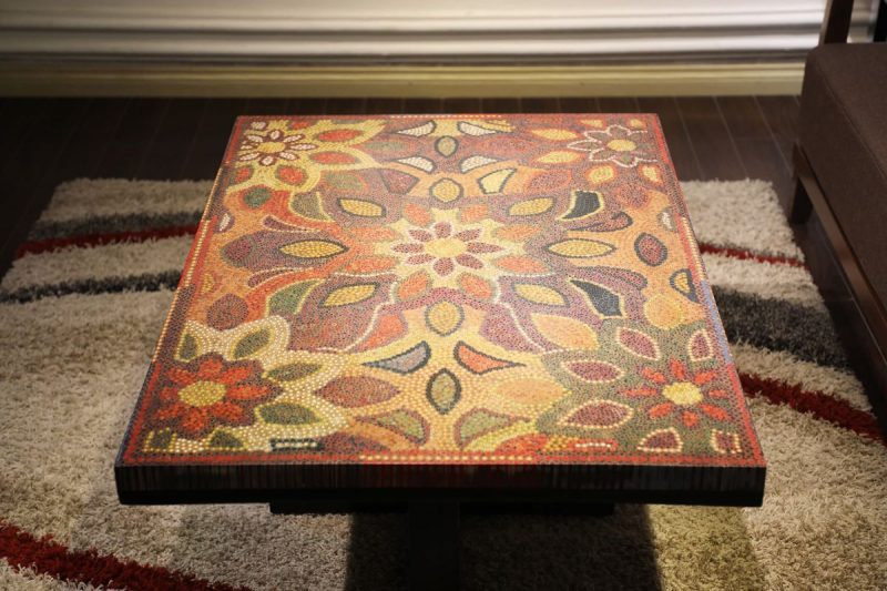 Melody of the Mother Nature Colored-Pencil Coffee Table