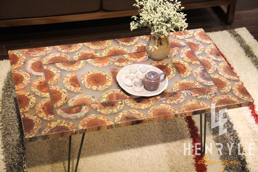 Mountain Woodland Colored-Pencil Coffee Table 1