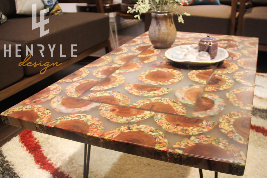 Mountain Woodland Colored-Pencil Coffee Table 2