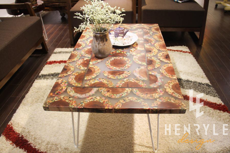 Mountain Woodland Colored-Pencil Coffee Table 4