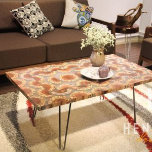 Mountain Woodland Colored-Pencil Coffee Table 5