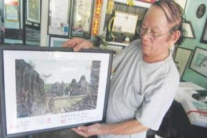 Nhan, 70, completed a collection of 100 water-colour paintings of World Heritage Sites last year.
