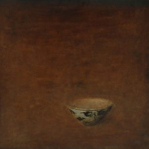Old Bowl 33 - Vietnamese Lacquer Painting Still Life by Artist Nguyen Tuan Cuong