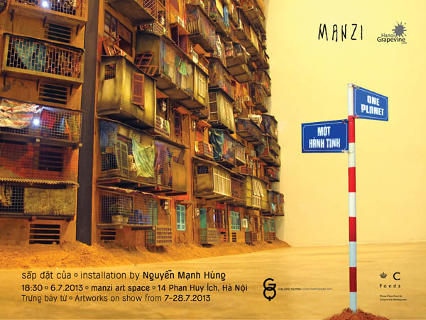 Exhibition one planet by nguyen manh hung in hanoi - Appartement renove hanoi hung manh tran ...