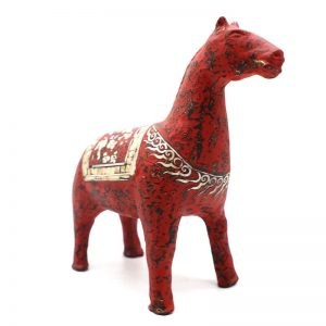 Red Horse I - Vietnamese Lacquer Artworks by Artist Nguyen Tan Phat