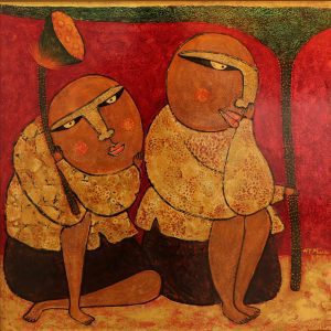 Rhymes I - Vietnam Lacquer Paintings by Artist HT Phuc