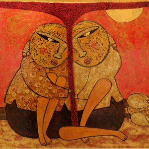 Rhymes II - Vietnam Lacquer Paintings by Artist HT Phuc
