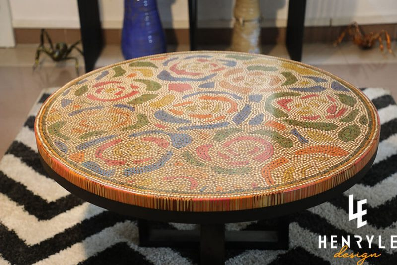 Rose Garden Colored-Pencil Coffee Table I 1