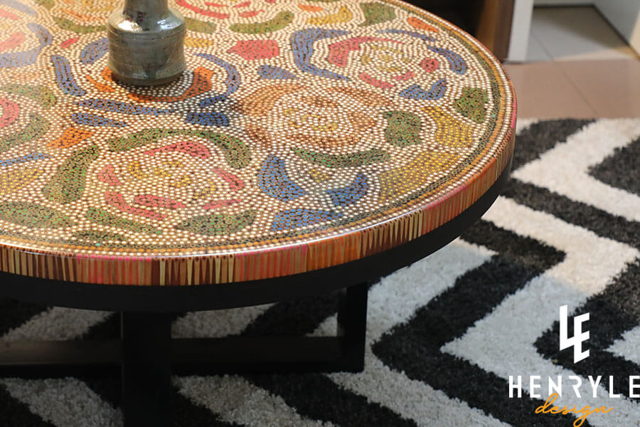 Rose Garden Colored-Pencil Coffee Table I 2