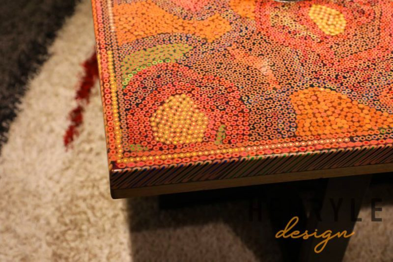 Rose Garden Colored Pencil Coffee Table II 1