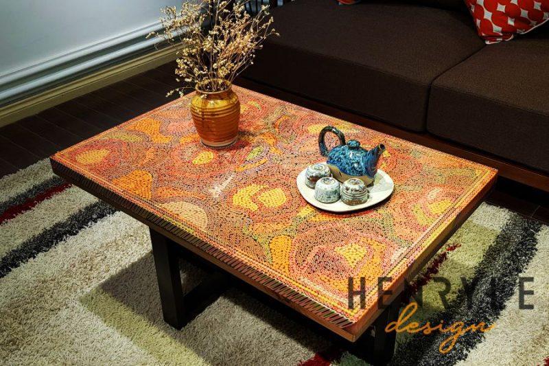 Rose Garden Colored Pencil Coffee Table II 3