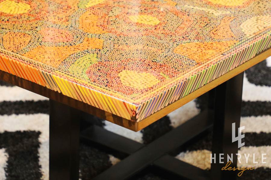 Rose Garden Colored Pencil Coffee Table II 7